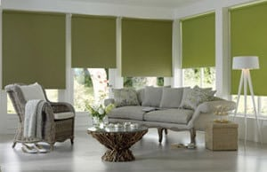 green roller blinds