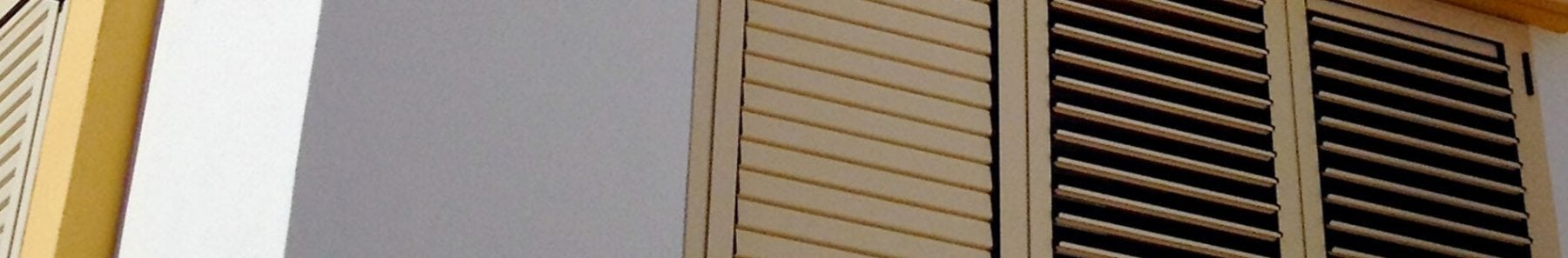 shutters along a wall