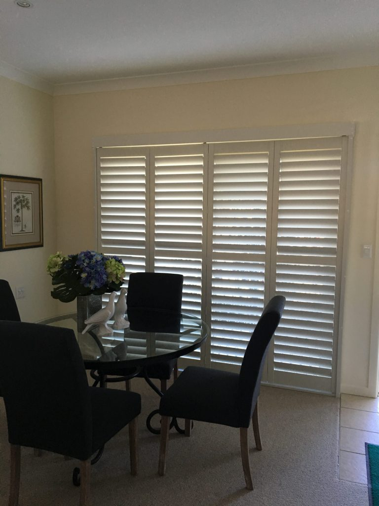 shutters in a dining room