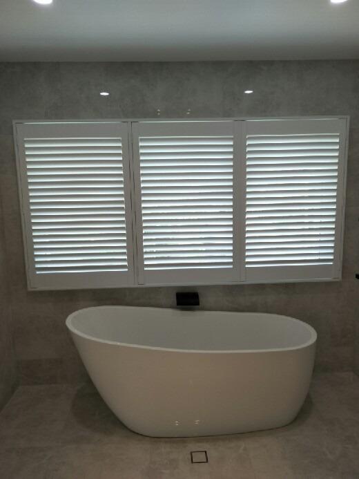 shutters in a bathroom