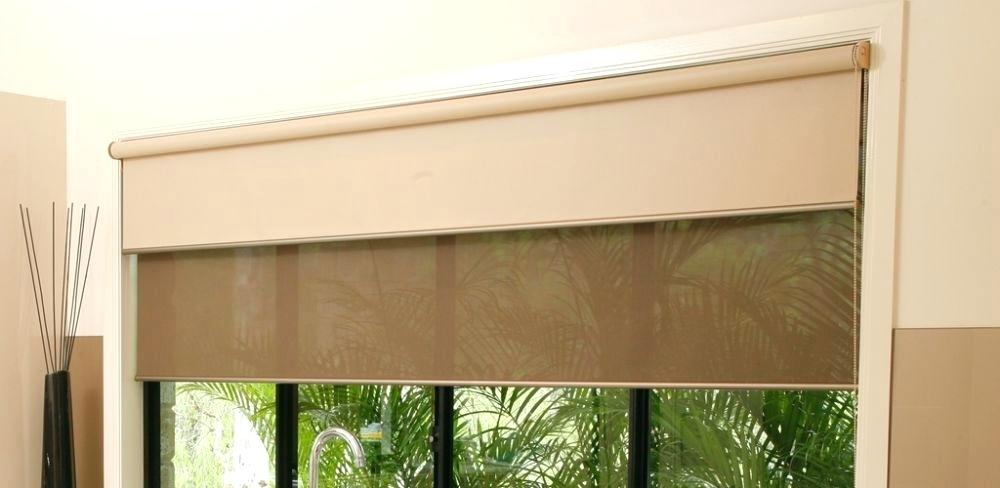dual roller blinds in a kitchen