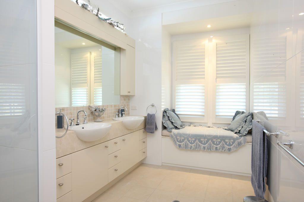 PVC shutters in a bathroom